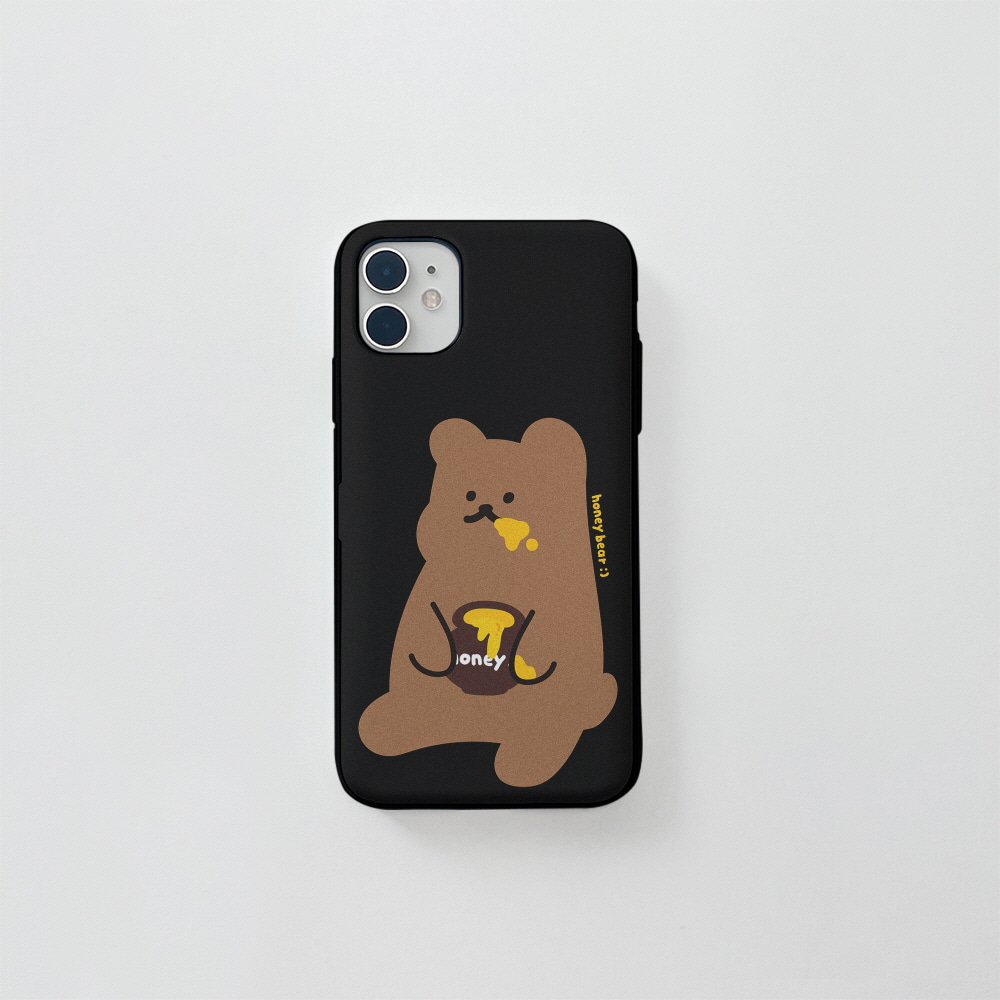 (카드) 꿀먹는곰 블랙