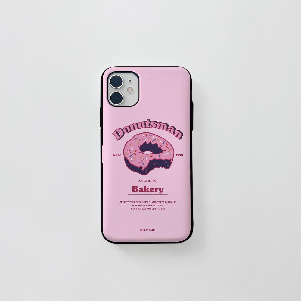 (카드) 도넛맨 핑크