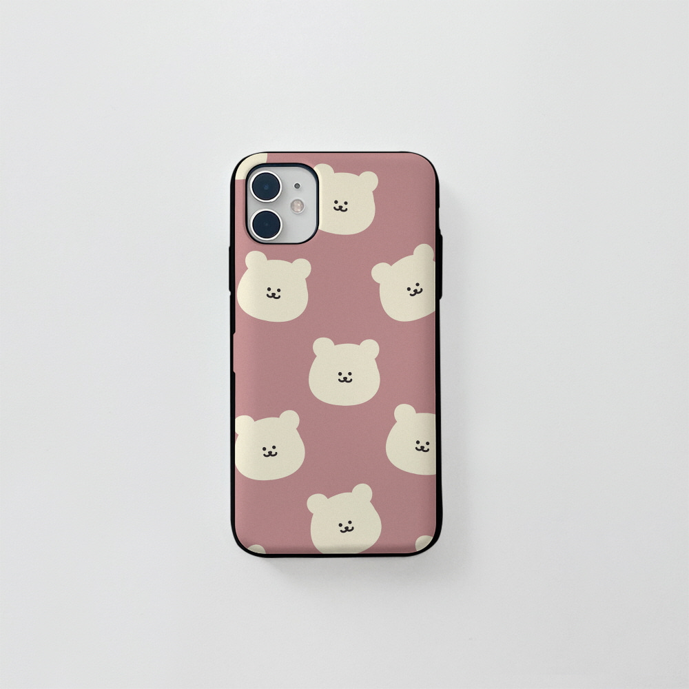 (카드) 곰찌 패턴 핑크
