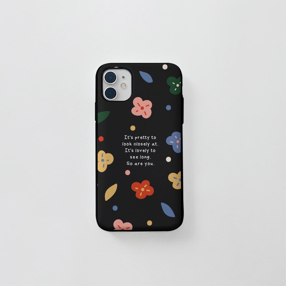 (카드) 알록달록 꽃 블랙