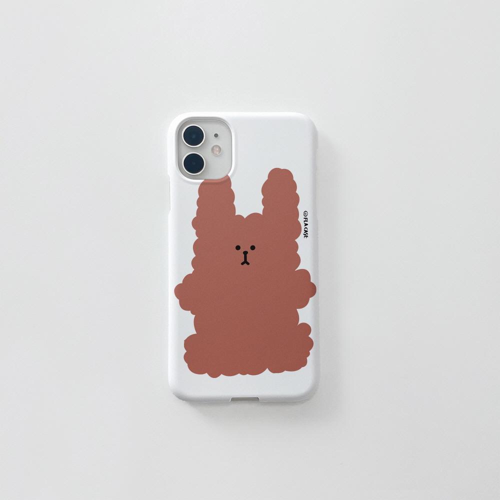 (무광) 복실 토끼-브라운