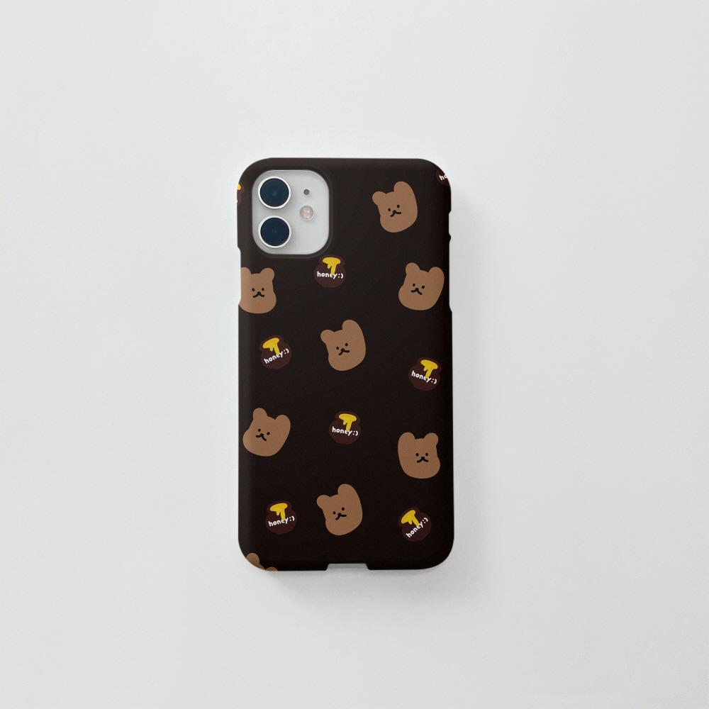꿀먹는곰 패턴 다크브라운