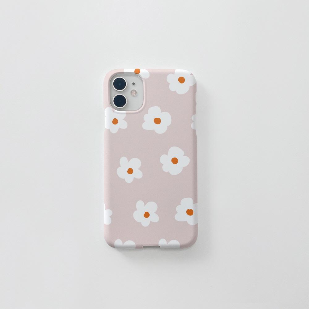 동글 꽃 패턴 핑크베이지