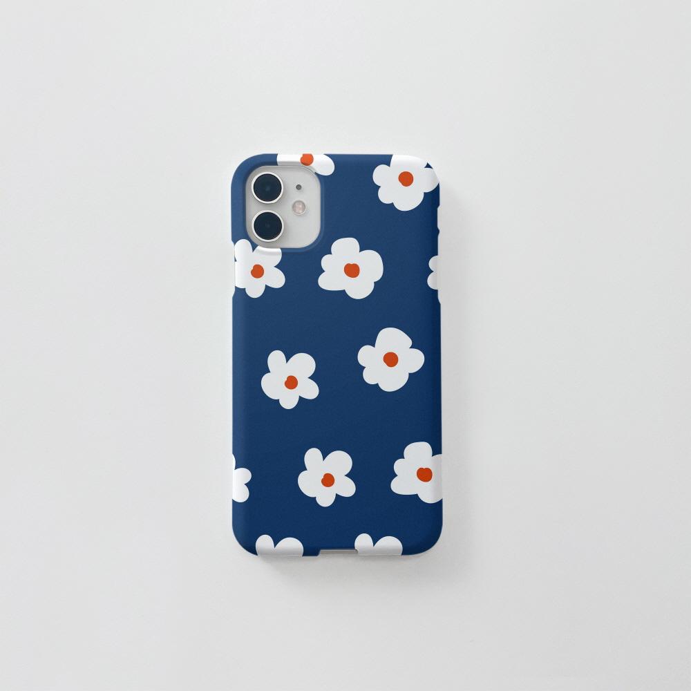 동글 꽃 패턴 네이비