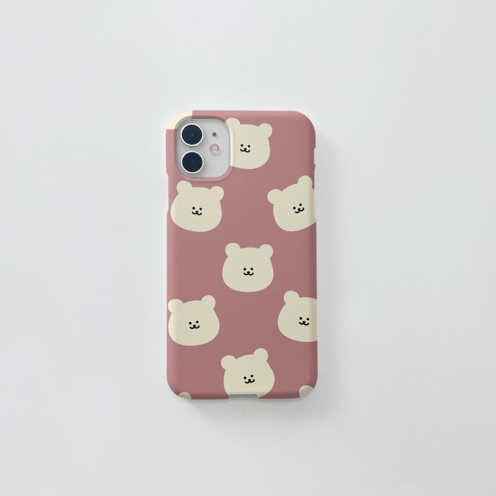 곰찌 패턴 핑크