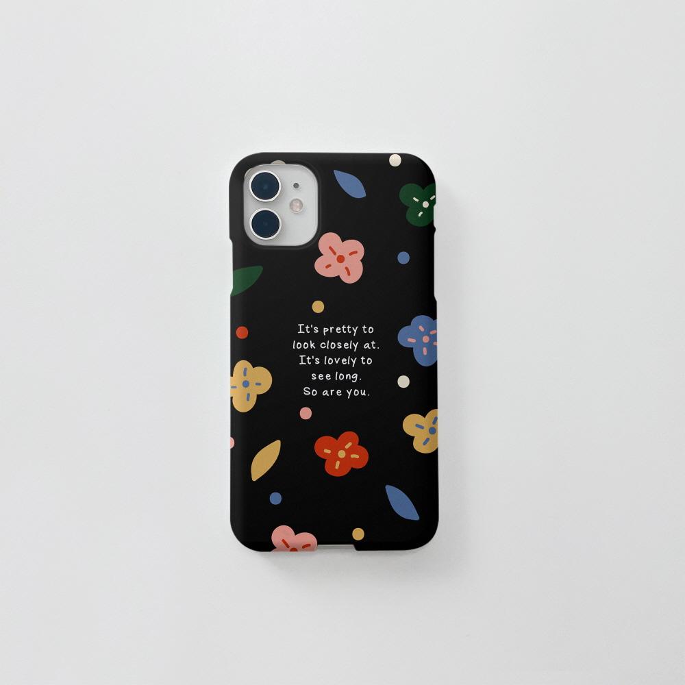 (무광) 알록달록 꽃 블랙