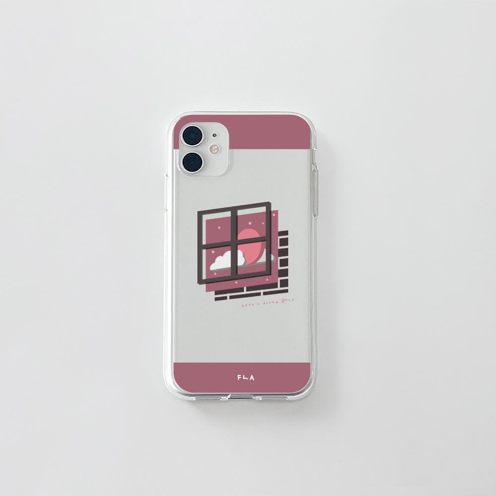 (젤리) 분홍 창문