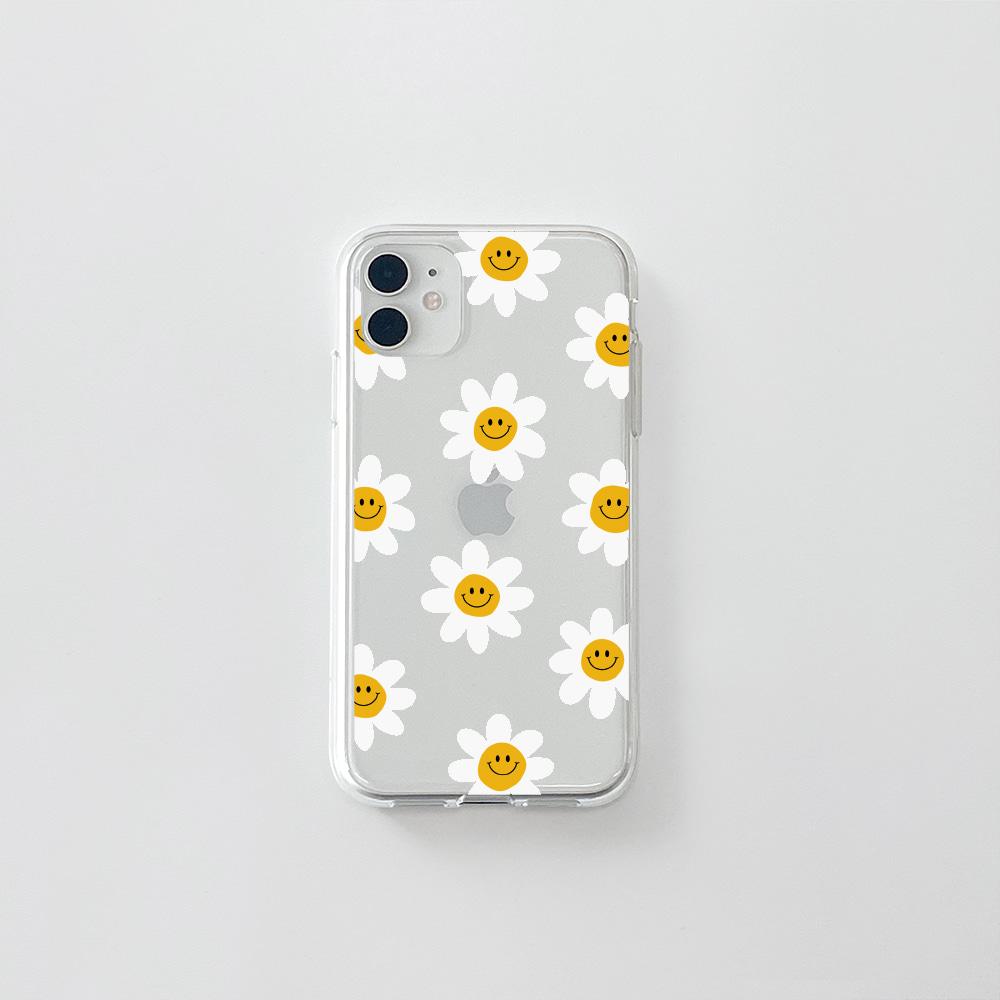 (젤리) 스마일 꽃 패턴