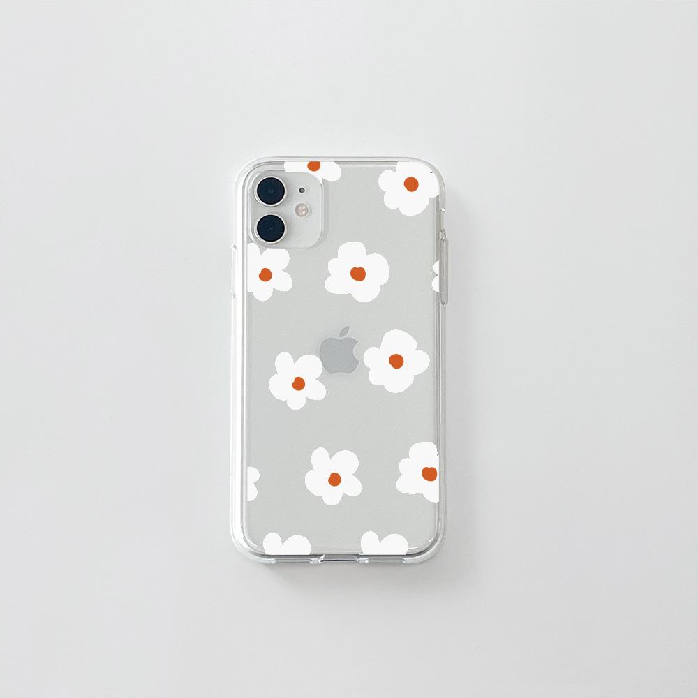 (젤리) 동글 꽃 패턴