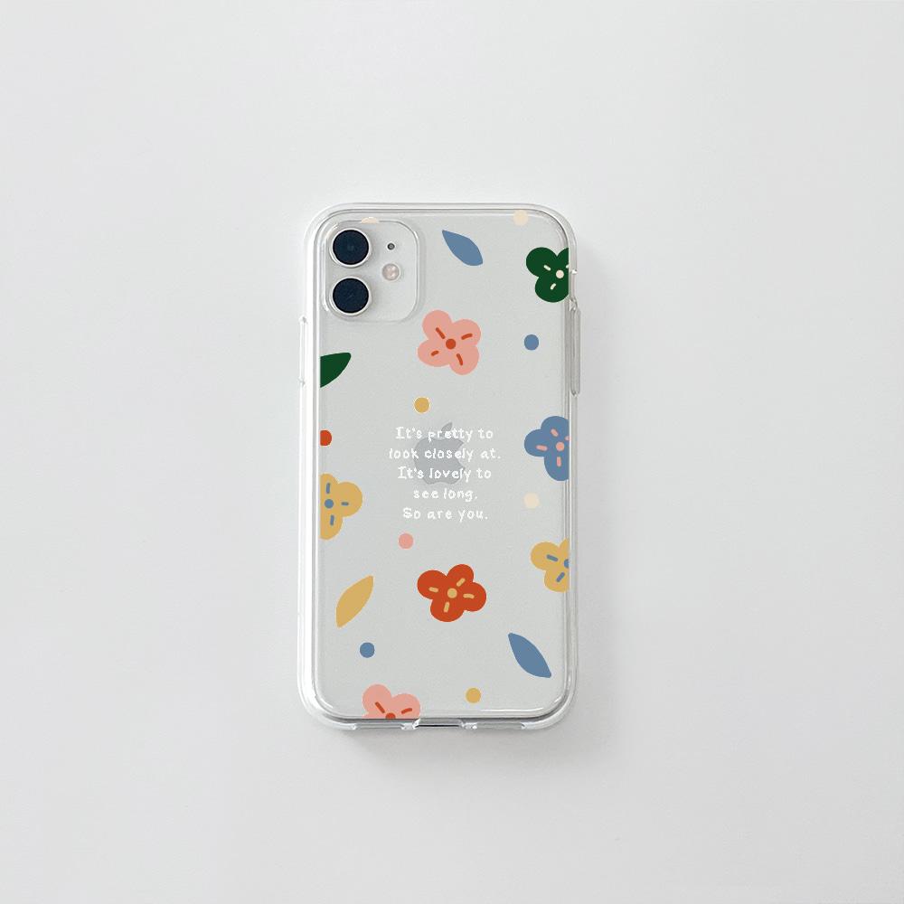 (젤리) 알록달록 꽃 문구W