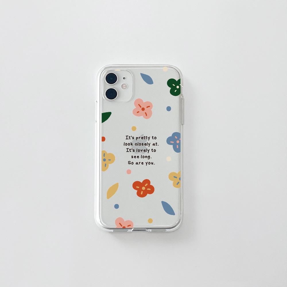 (젤리) 알록달록 꽃 문구B