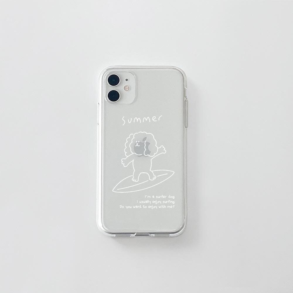 (젤리) 서핑 더기 화이트