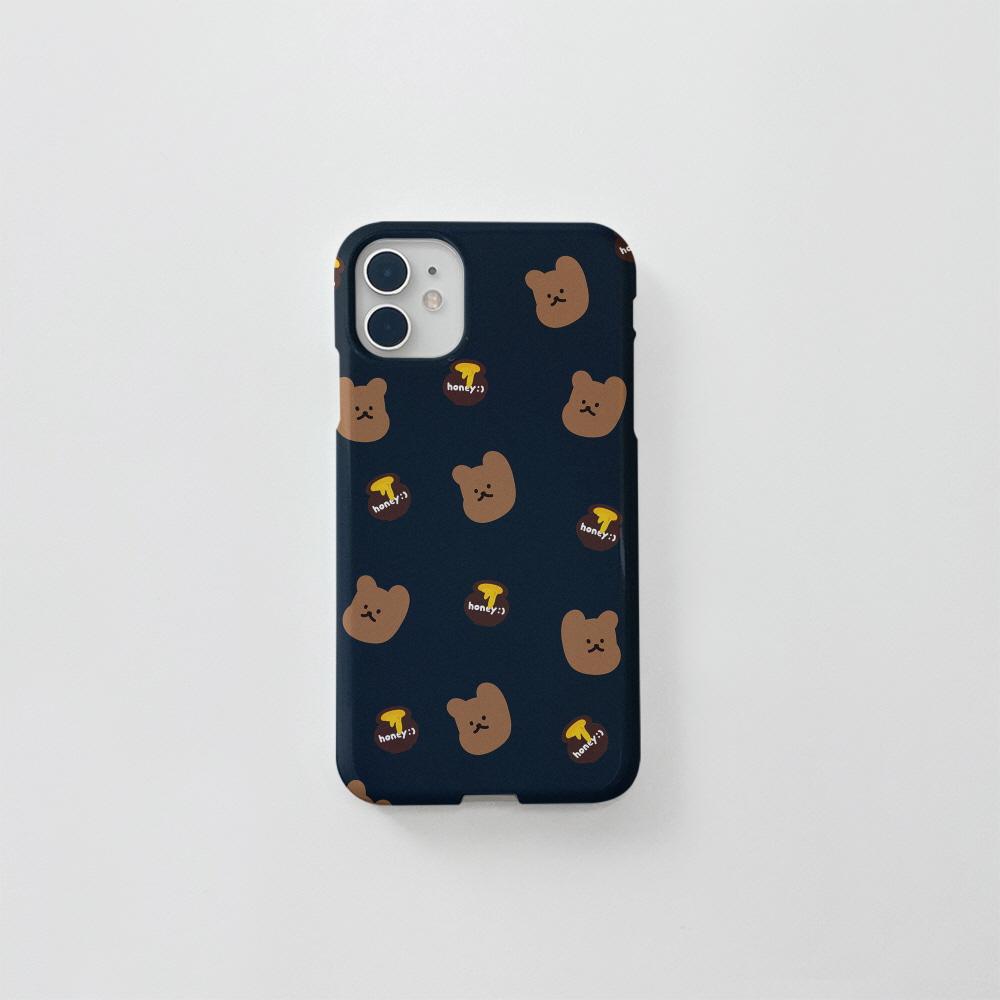 (골드펄) 꿀먹는곰 패턴 네이비
