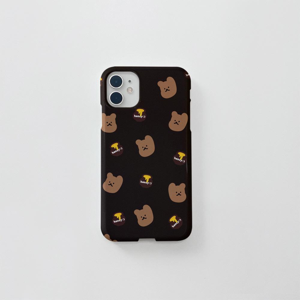 (골드펄) 꿀먹는곰 패턴 다크브라운