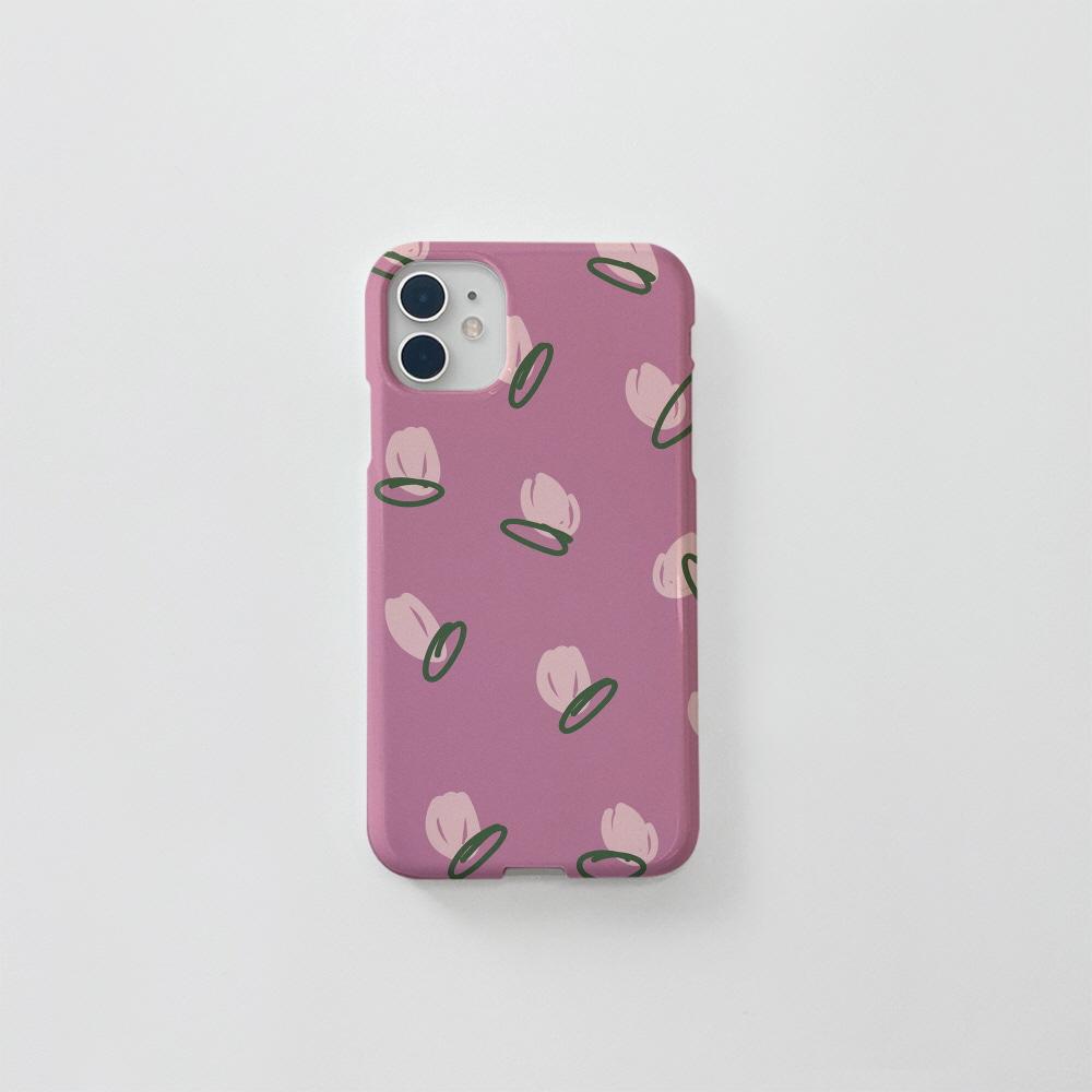 (골드펄) 장미 패턴 핑크