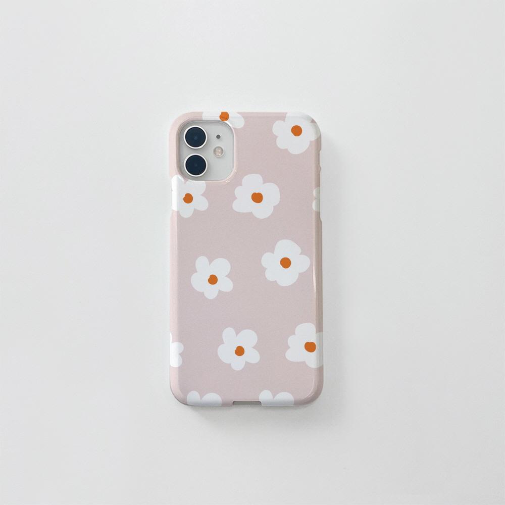 (골드펄) 동글 꽃 패턴 핑크베이지