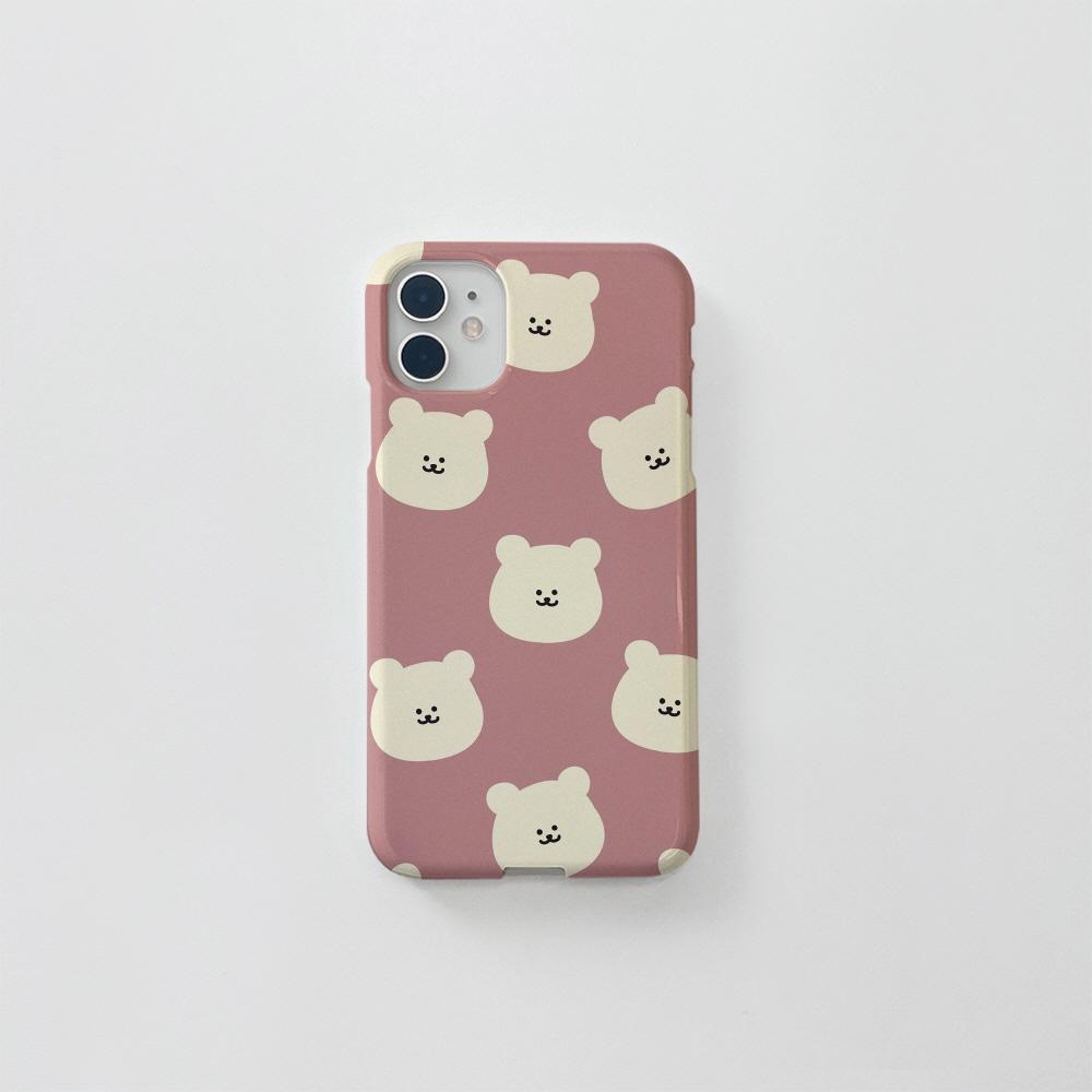 (골드펄) 곰찌 패턴 핑크