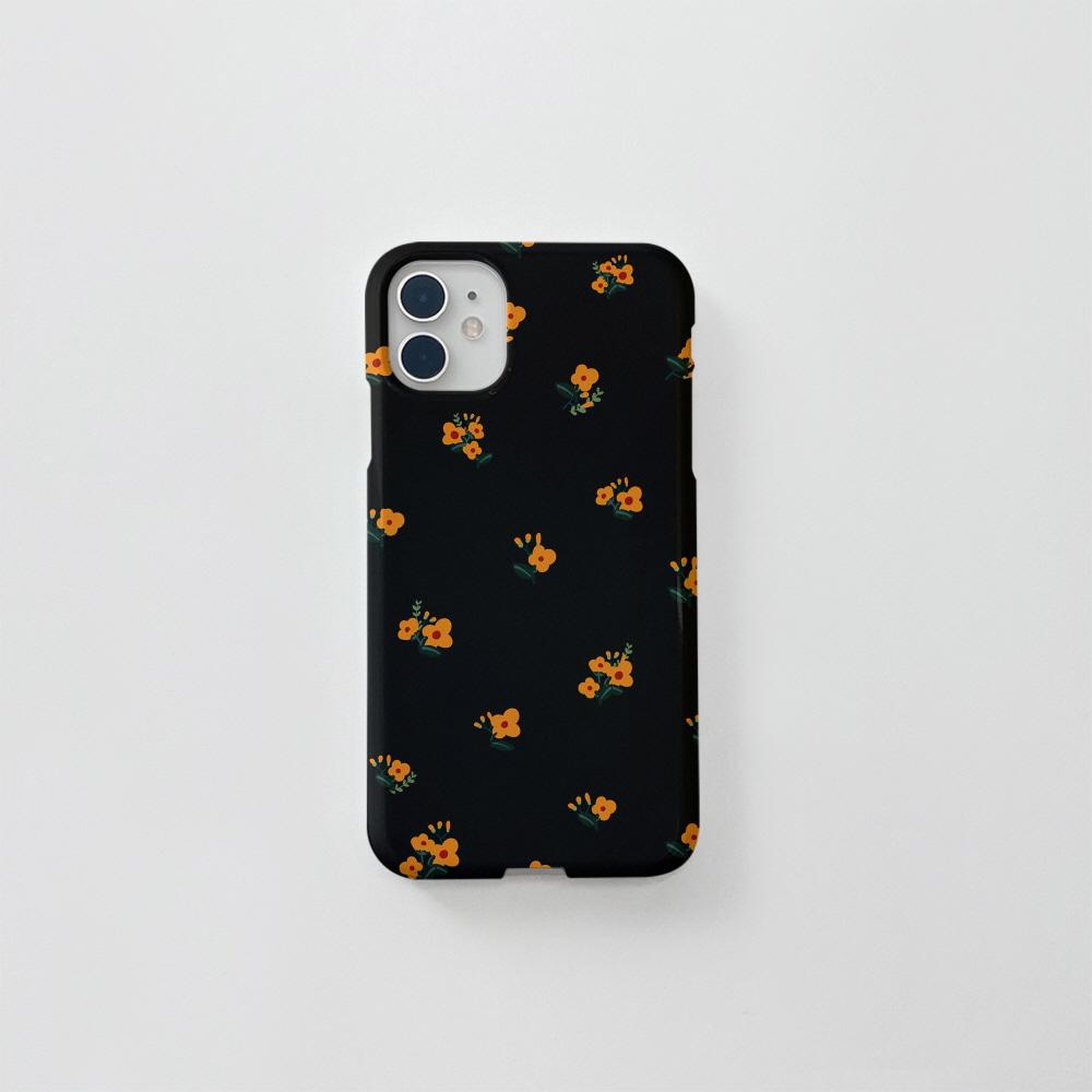 (골드펄) 유채꽃 패턴 블랙