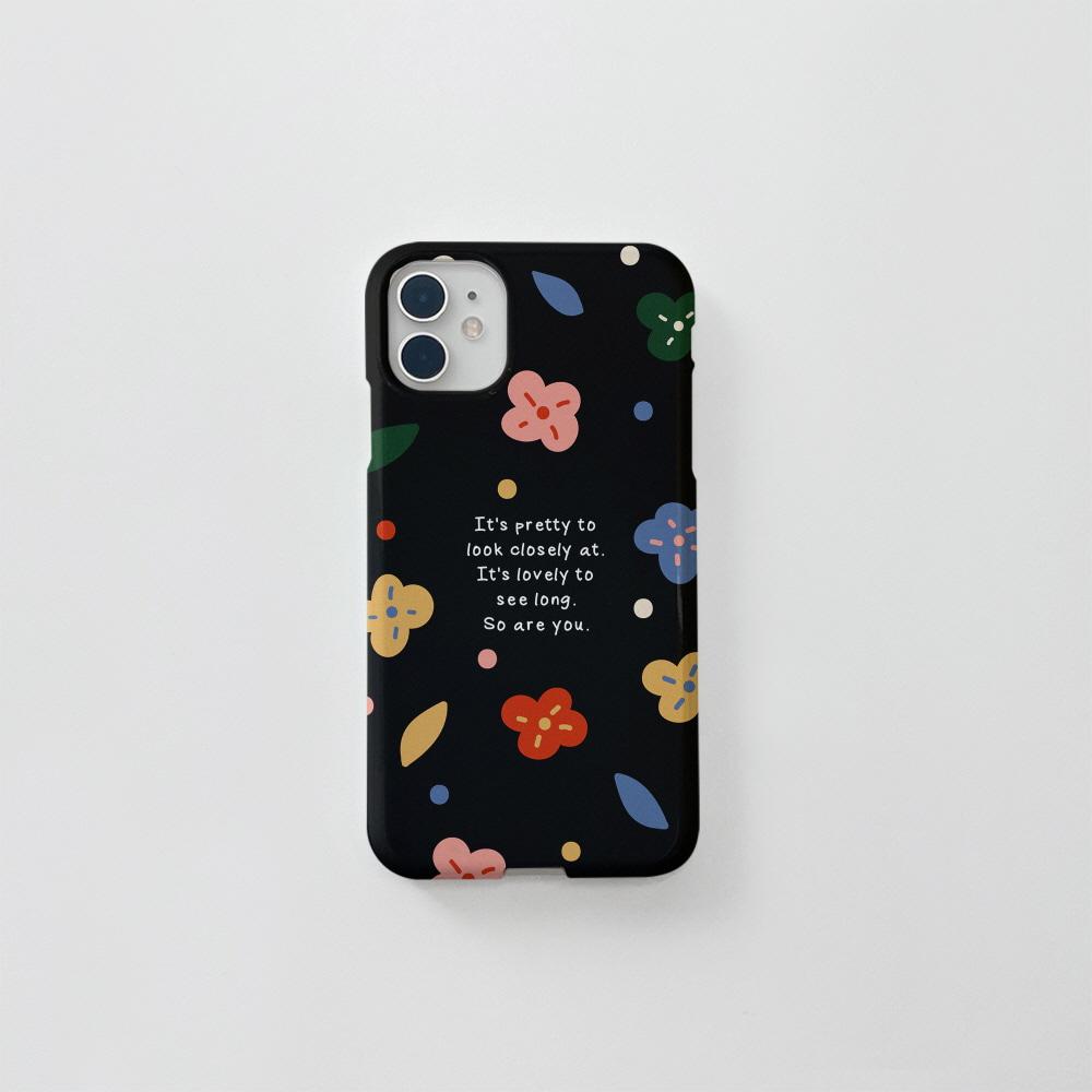 (골드펄) 알록달록 꽃 블랙