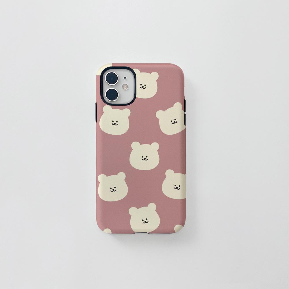 (터프) 곰찌 패턴 핑크