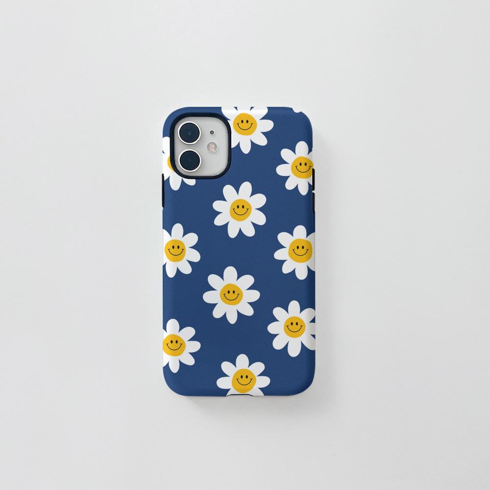 (터프) 스마일 꽃 패턴 블루