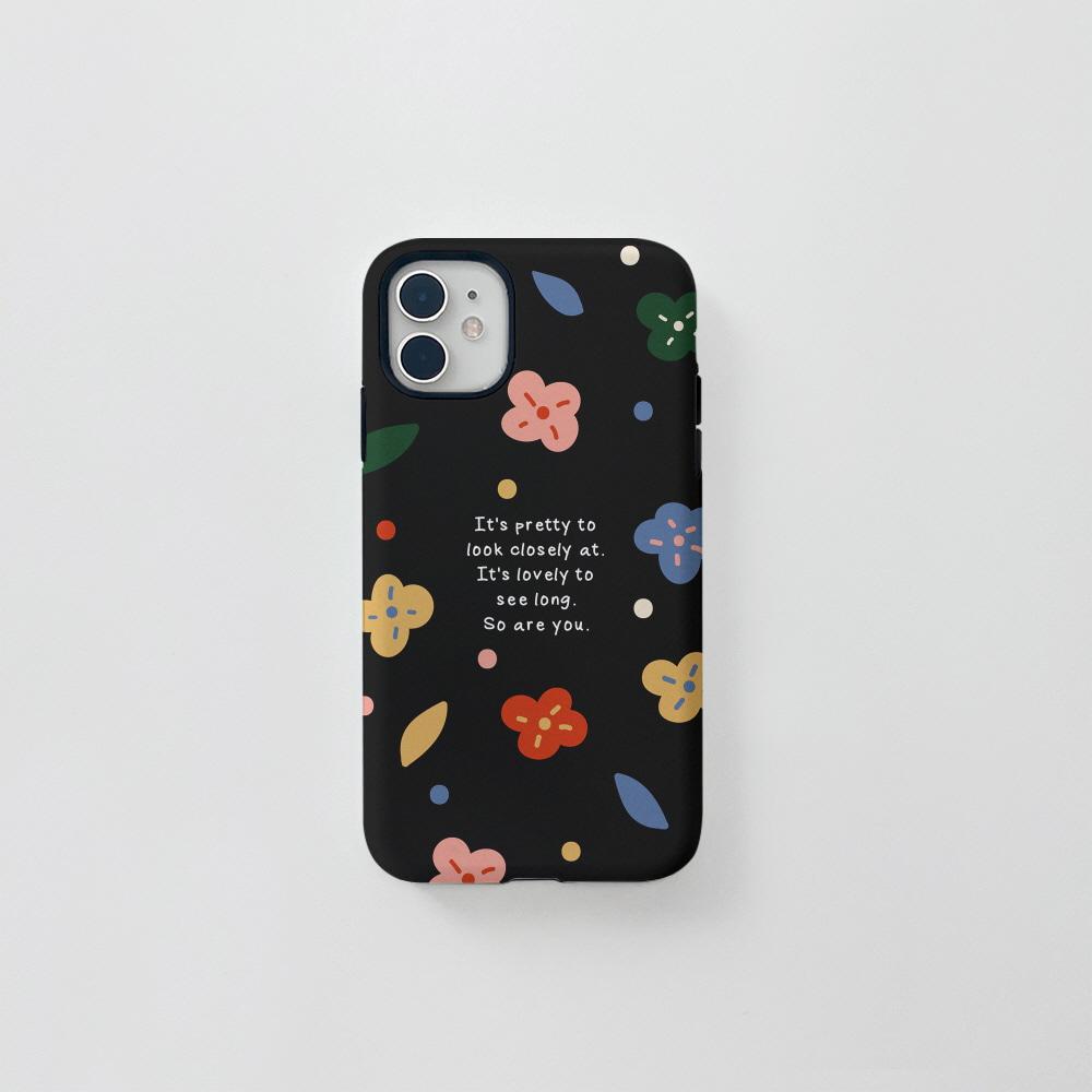 (터프) 알록달록 꽃 블랙