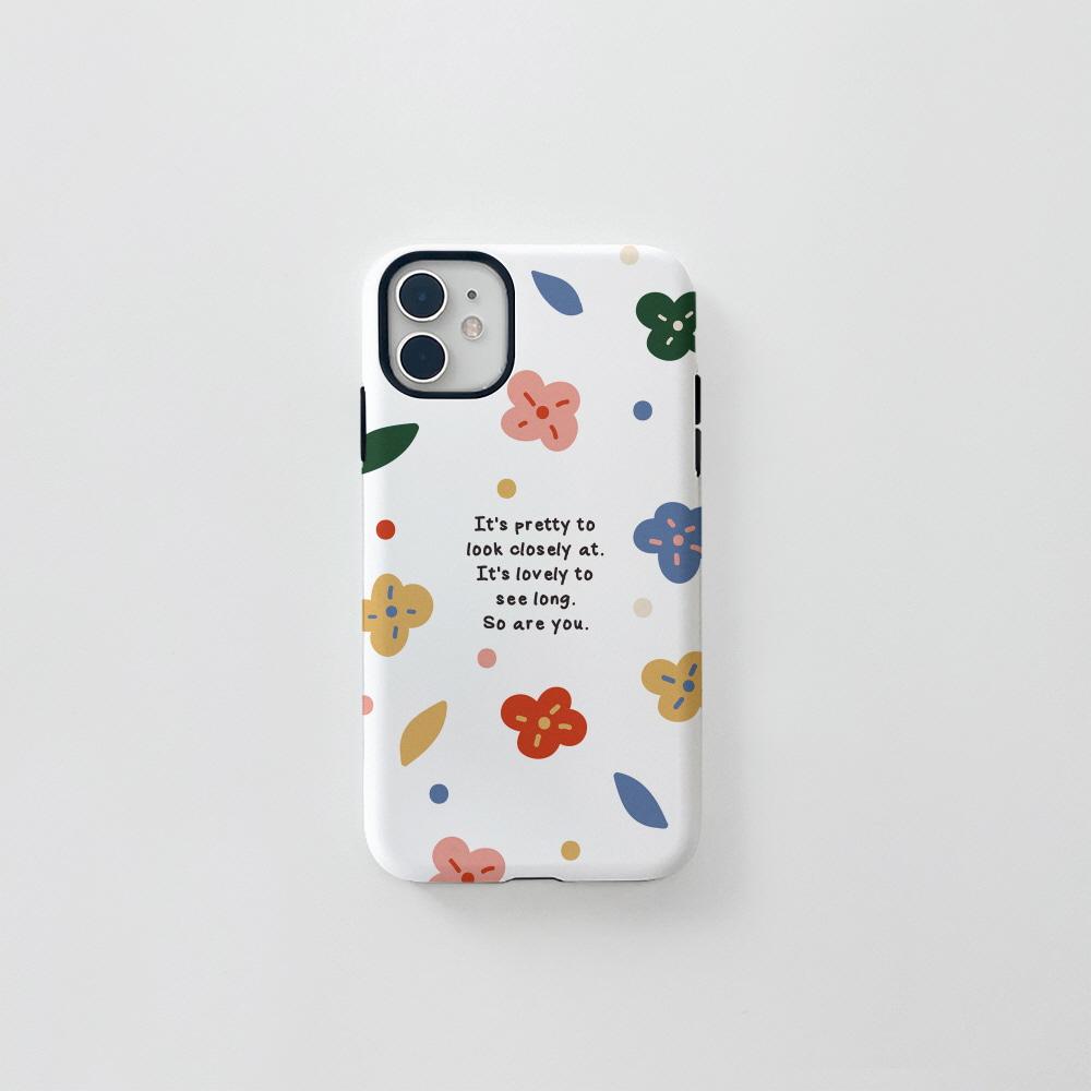 (터프) 알록달록 꽃 화이트
