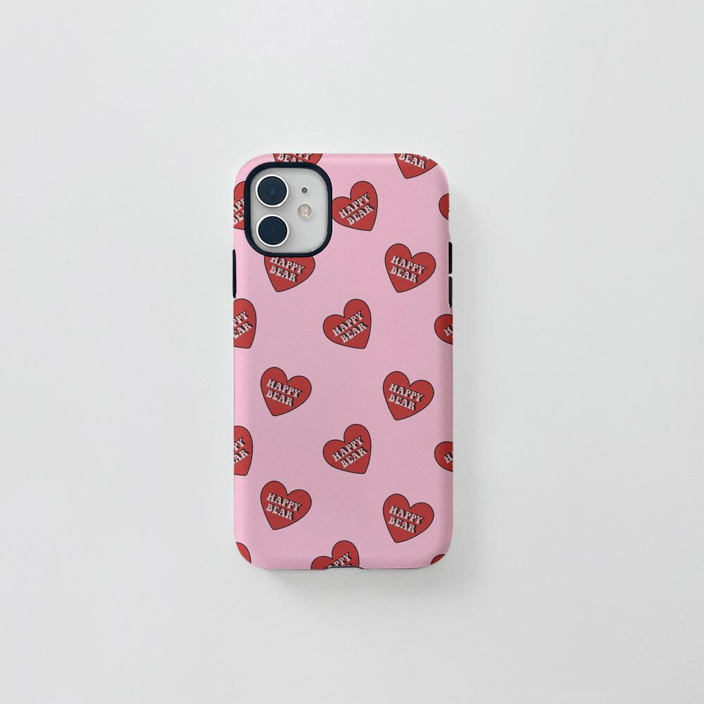 (터프) HB 하트 패턴 핑크